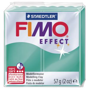 Staedtler FIMO Effect Modelling Clay Translucent Green 57g