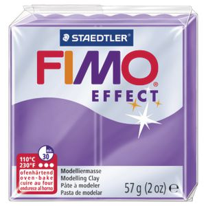 Staedtler FIMO Effect Modelling Clay Translucent Purple 57g