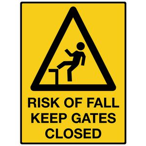 Mills Display Risk of Fall Sign 450 x 600mm