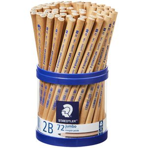 Staedtler Natural Jumbo Triangular Pencil 2B 72 Pack