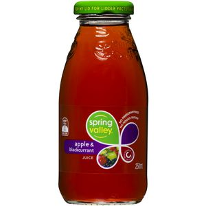 Spring Valley Apple and Blackcurrant Juice 250mL 30 Pack