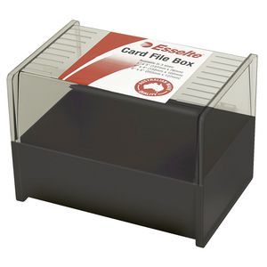Esselte 102 x 152 mm System Card Box Black