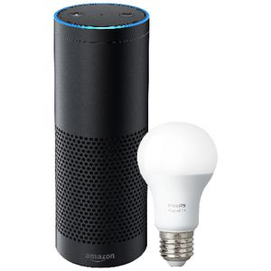 Amazon Echo Plus with Philips Hue E27 Bulb