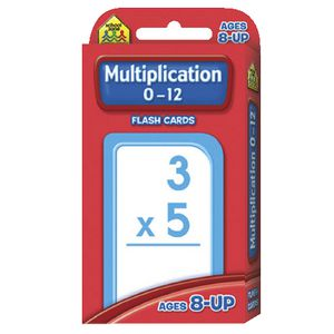 School Zone Multiply 0-12 Flash Cards