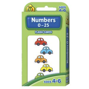 School Zone Flash Cards Numbers  0-25