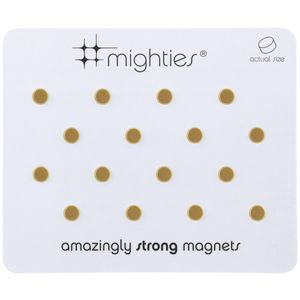 Three By Three Mighties Magnets Gold 16 Pack at Officeworks in Campbellfield, VIC | Tuggl