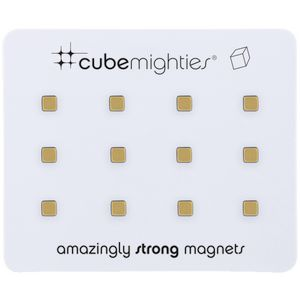 Three By Three Cube Mighties Magnets Gold 12 Pack