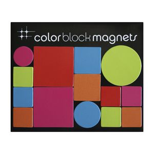 Three By Three Colour Block Magnets Brights 14 Pack