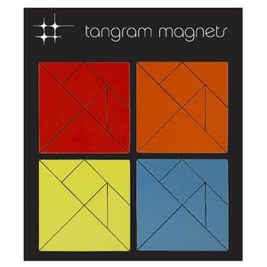 Three By Three Tangram Magnets Large
