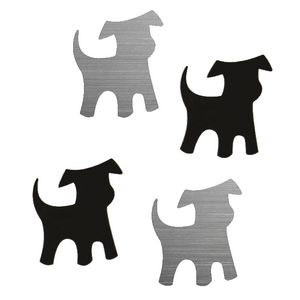 Three By Three Shape-Up! Dog Magnets Black