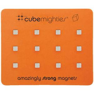 Three By Three Cube Mighties Magnets Silver 12 Pack