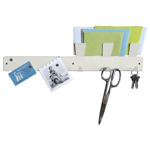 Three By Three Magnetic Strip Bulletin Board White