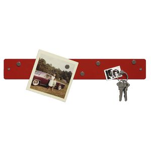 Three By Three Magnetic Mini Strip Bulletin Board Red