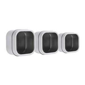 Three By Three Magnetic Storage Bin White 3 Pack