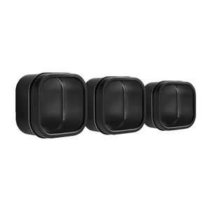 Three By Three Magnetic Storage Bin Black 3 Pack