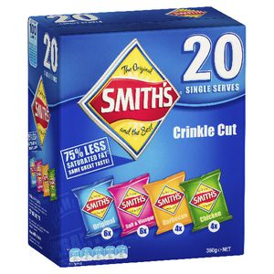 Smith's Crinkle Cut Chips Various 380g 20 Pack