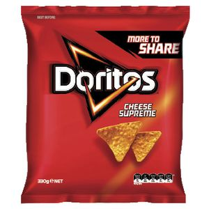 Doritos Corn Chips Cheese Supreme 330g