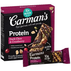 Carman's Protein Bar Dark Chocolate and Cranberry 5 Pack