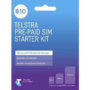 Telstra $10 SIM Starter Kit