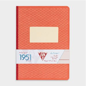 Clairefontaine 1951 Clothbound Lined A5 Notebook 96 Page Red