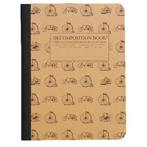 Decomposition Ruled Notebook Bicycles 160 Page