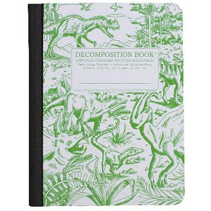 Decomposition Ruled Notebook Dinosaur 160 Page