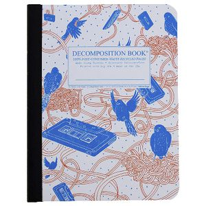 Decomposition Ruled Notebook Bird 160 Page