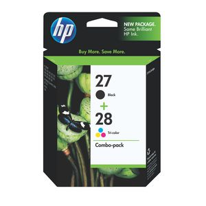 HP 27 and 28 Ink Cartridges Black and Tri-Colour