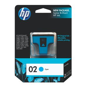 HP 02 Ink Cartridge Cyan