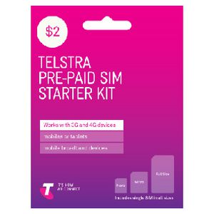 Telstra $2 Tri SIM Card