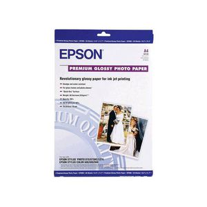 Epson 255gsm A4 Premium Glossy Photo Paper 20 Pack
