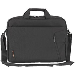 "J.Burrows 15.6"" Laptop Bag with External Zip Pocket Black"
