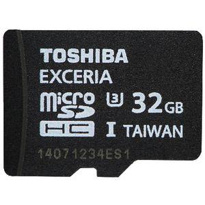 Toshiba 32GB Exceria microSDHC Memory Card