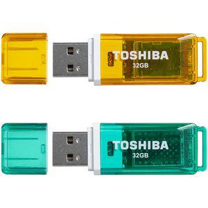 Toshiba 32GB USB 2.0 Flash Drive SP02 2 Pack | Tuggl