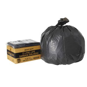 Tailored Packaging All Purpose Bin Liners 73L 250 Pack Black