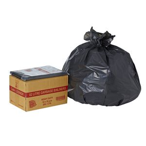 Tailored Packaging Heavy Duty Bin Liners 82L 250 Pack Black