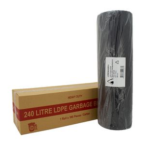 Tailored Packaging Heavy Duty Bin Liners 240L 100 Pack Black