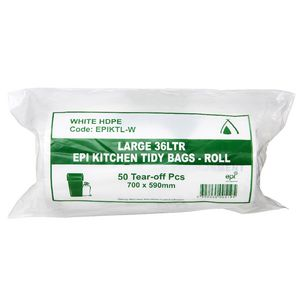 Tailored Packaging Degradable Bin Liner White 36L 50 Pack