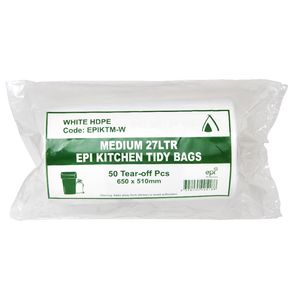 Tailored Packaging Degradable Bin Liner White 27L 50 Pack