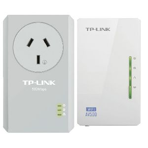 TP-LINK N300 Wireless Power Line Adaptor Kit AV500