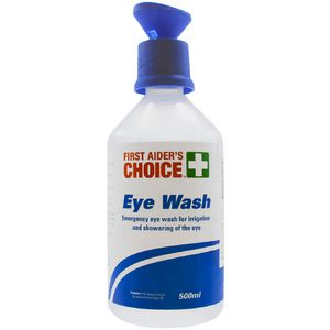First Aiders Choice Eyewash and Irrigation Solution 500mL
