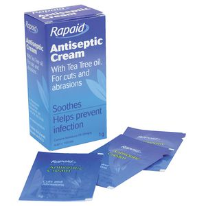 First Aiders Choice Rapaid Antiseptic Cream 1g Sachet 10 Pack