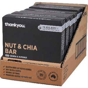 Thankyou Muesli Bar Nut and Chia Seed 6 x 6 Pack