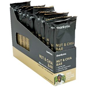 Thankyou Muesli Bar Nut and Chia Seed 45g 12 Pack