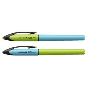 Uni-Ball Air Rollerball Pens 0.5mm Blue/Green 2 Pack