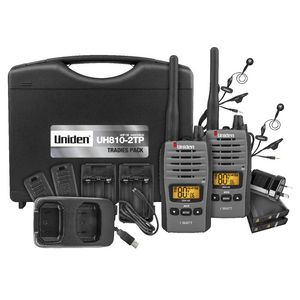 Uniden 80 Channel 1W UHF Radio Tradies Pack UH810S-2TP