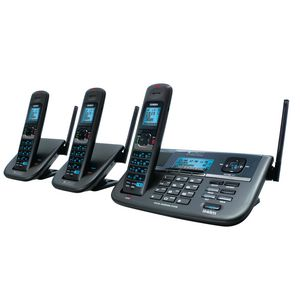 Uniden Cordless Phone with 2 Additional Handsets XDECTR055