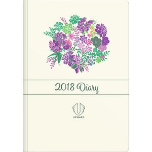 Upward Fashion A5 Week to View 2018 Hard Cover Diary