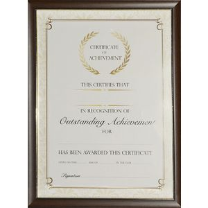 Lifestyle Brands Certificate Frame A4 Value 5 Pack Timber