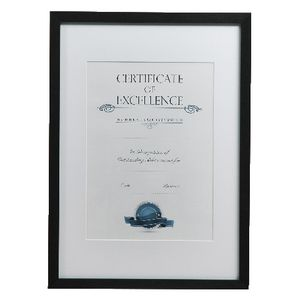 Lifestyle Brands Certificate Frame A3 Value 25 Pack Black